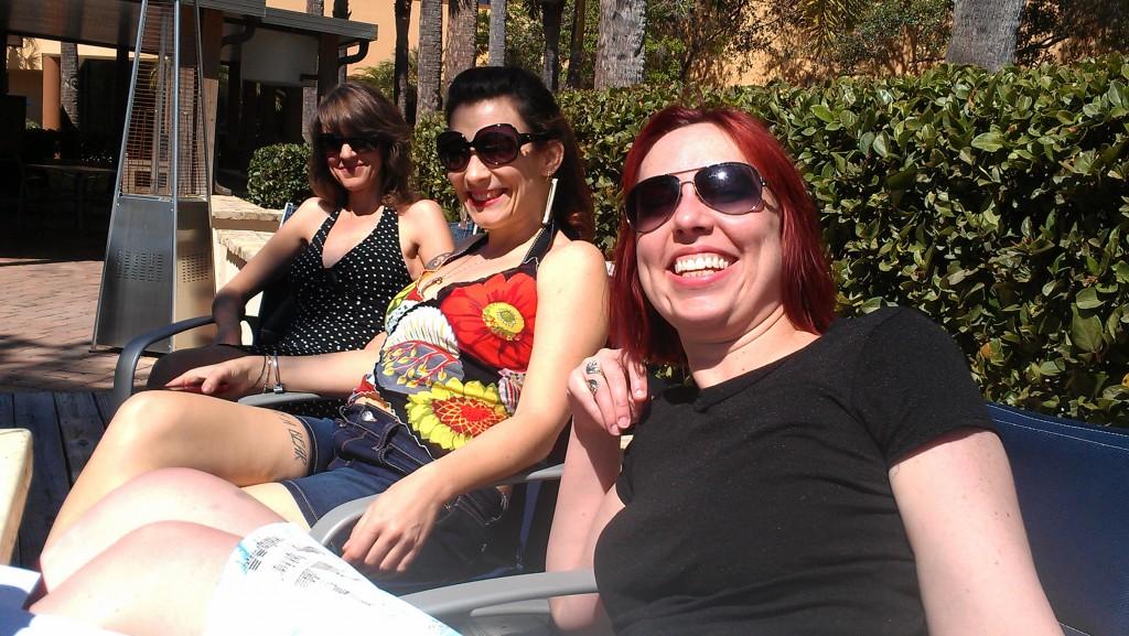 Team Heliotrope: Nancy Hightower, Maria Dahvana Headley, and Kat Howard.