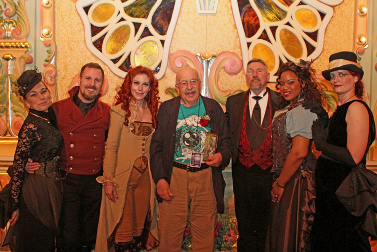 Terra Mysterium with Gene Wolfe at the Fuller Awards.  (Photo by 8 Eyes Photography)