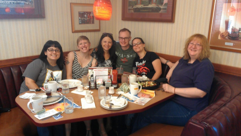 Breakfast with friends (photo by nice Denny's manager)