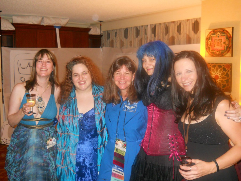 After the Hugos, with Amy Sisson, Francesca Myman, Cady Coleman, Stina Leicht.