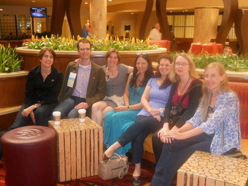In such good company, hanging out with wonderful Tor people: Ellen Gallo, Max Gladstone, Stephanie Neely, Miriam Weinberg, Stacy Hill, and Carrie Vaughn.