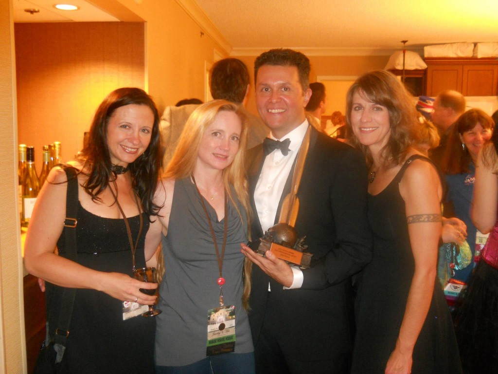 After the Hugos, with Tara Smith, John Picacio, and Nancy Hightower.
