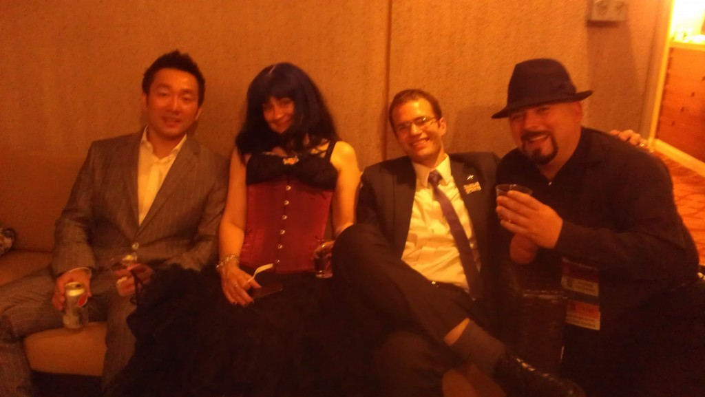 After the Hugos: Wesley Chu, Stina Leicht, Max Gladstone, and David Boop.