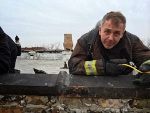David Eigenberg, as Christopher Herrmann, on Chicago Fire