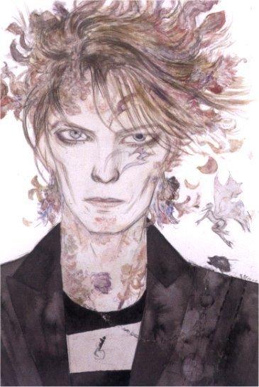 David Bowie, by Yoshitaka Amano