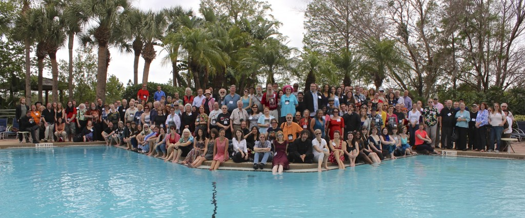ICFA Group picture by the pool. (Photo by Bill Clemente)