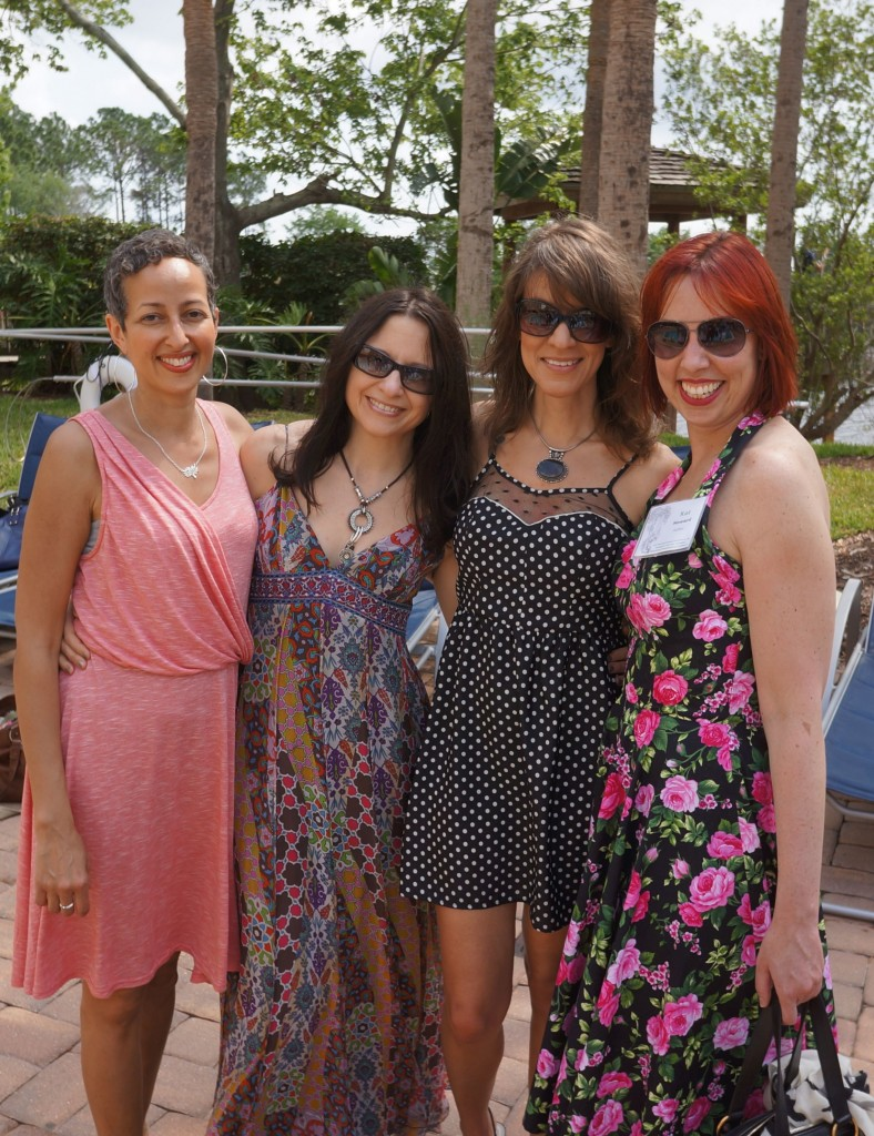 Sofia Samatar, me, Nancy Hightower, and Kat Howard.(Photo by Jim Kelly.)